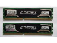16gb DDR3 (2x8gb) Crucial Ballistix Sport 1600