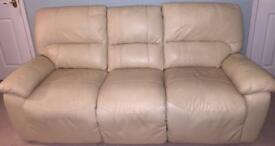 Pair of 3 seater manual recliner sofas