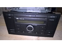 Ford 6000CD Car Radio . RDS . With Code . Great Condition