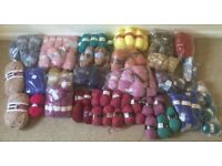 Large selection of knitting wools
