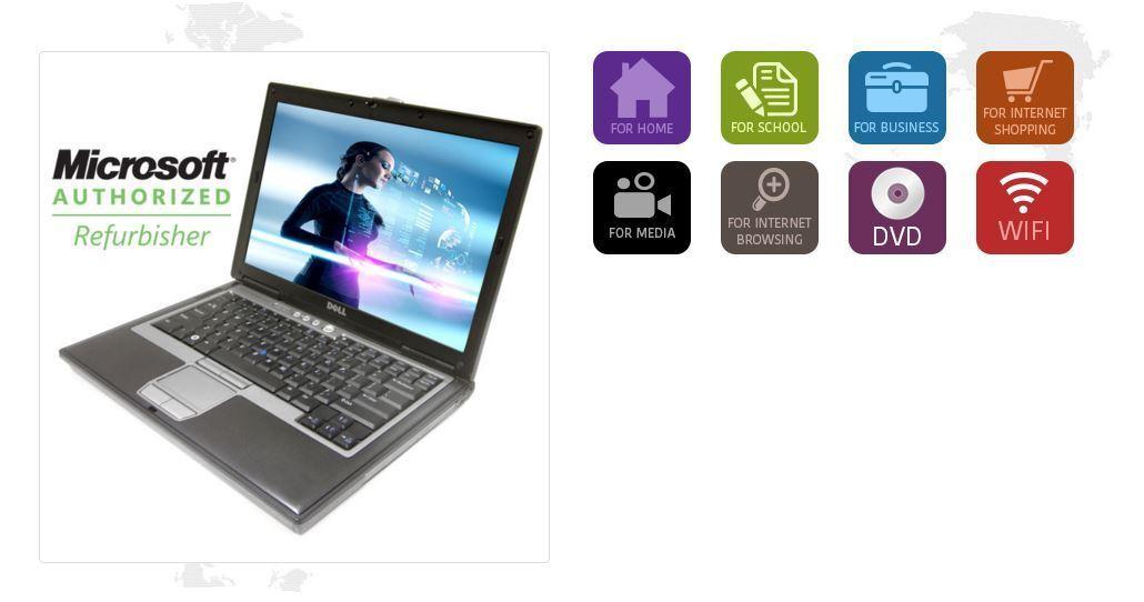 Dell Latitude D620 D630 Intel Dual Core 80GB-120GB 4GB RAM Wifi  WIN 7 OR WIN 10