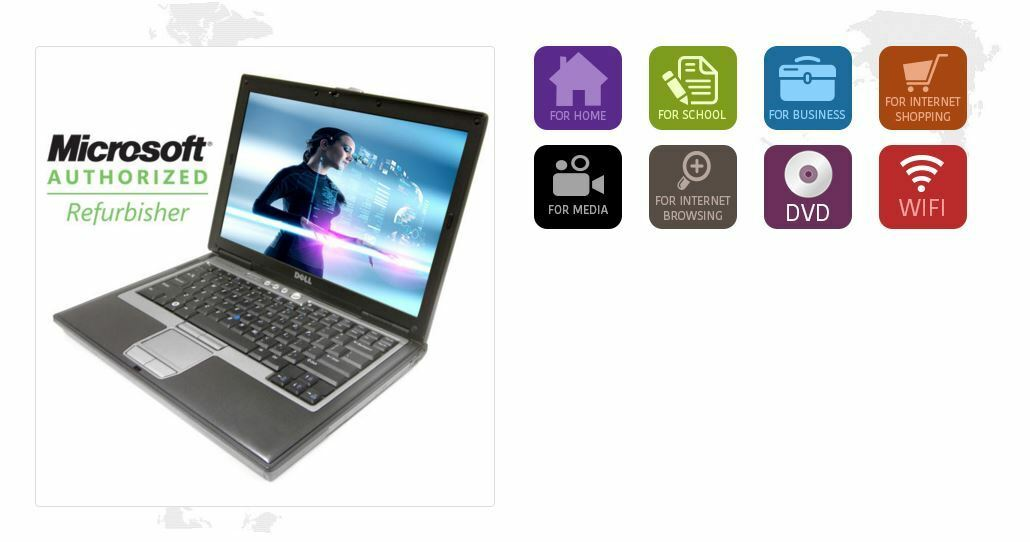Dell Latitude D620 D630 Laptop 80G to 100GB 2GB Dual Core Wifi - WINDOWS XP PRO