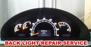Mercedes W220 Instrument Cluster Back Light REPAIR SERVICE S55, S500, S430, s320