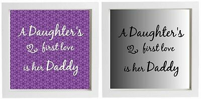 Vinyl Lettering DIY Fathers Day Gift - A daughter's first love is her Daddy  (Fathers Day Diy)