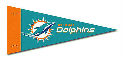 (MIAMI DOLPHINS 8 PIECE FELT MINI PENNANTS SET PACK NFL FOOTBALL)