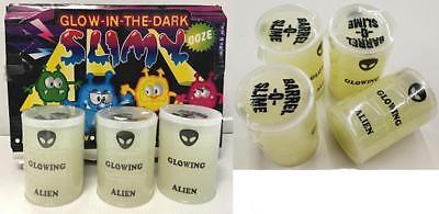 Glow In The Dark Party Items (4 ALIEN GLOW IN THE DARK SLIME glowing toy party items GOOP SLIMEY goo)