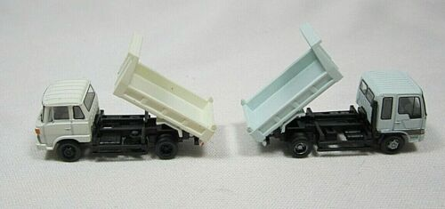 N scale TOMYTEC  pair of Flat Bed Dump Trucks
