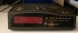 GE Digital Red LCD AM/FM Alarm Clock Radio Model No. 7-4813B