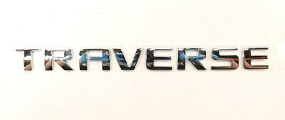 NEW OEM GM Front Door Chrome Lettering Badge 25848463 Chevrolet Traverse 2009-10