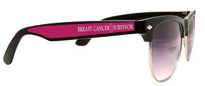 Breast Cancer Awareness Survivor Pink Ribbon Black Wire Sunglasses Gift S2JT](Breast Cancer Sunglasses)