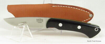 Bark River Knives Featherweight Fox River, Elmax, Black Canvas with Toxic Liners