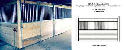 HORSE BARN STALL,12 FT GRILL,SIDE,BACK GALVANIZED