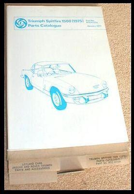 1977 TRIUMPH SPITFIRE 1500 PARTS MANUAL  STAG TR 3 4 7 RTC 9110 A