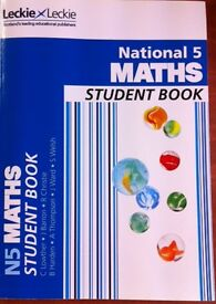 LECKIE & LECKIE NATIONAL 5 MATHS STUDENT BOOK. MINT CONDITION.