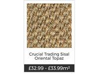 Carpet - Crucial Trading Sisal Oriental Topaz - 310cm Length x 150cm Width