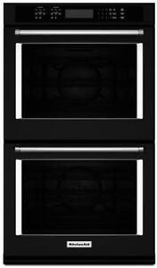 30-inch KitchenAid Double Wall Oven, Convection, Black Stainless, Showroom