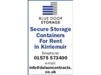 SECURE STORAGE CONTAINERS FOR RENT IN KIRRIEMUIR