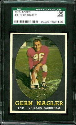 1958 Topps #60 Gern Nagler SGC 88 (8) Chicago Cardinals, used for sale  Denver