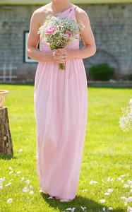 Blush Pink Chiffon Bridesmaid Dress