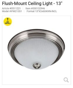LED Flush-Mount Ceiling Light - 13""