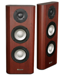 Axiom Audio M22 v3 On Wall Speakers in Boston Cherry