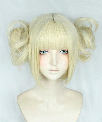 My Hero Boku no Academia Himiko Toga Gold Perücke Wig Cosplay Kostüme Anime Neu