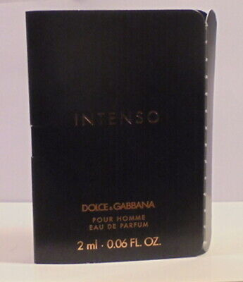 Dolce Gabbana Intenso Cologne Perfume Spray Miniature Test Sample Bottle Vial ML