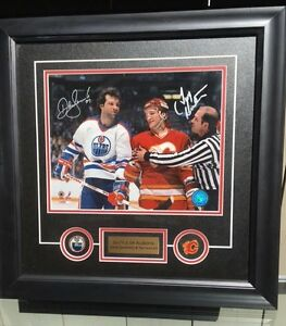 Tim Hunter, Flames & Dave Semenko, Oilers - Battle of Alberta