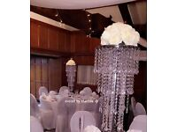 Wedding, birthday party table centrepiece (fishbowl, martini, chandelier, crystal tree etc.)