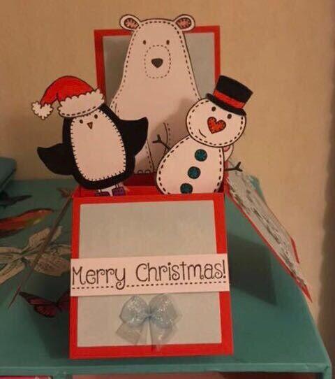 handmade popup box christmas cards