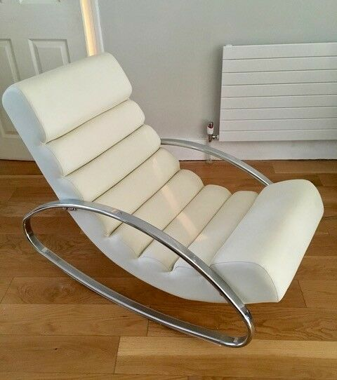 reputable site d4f9f 51fa7 Ripple rocker chair from Dwell with chrome legs, off white - £140 | in  Colliers Wood, London | Gumtree