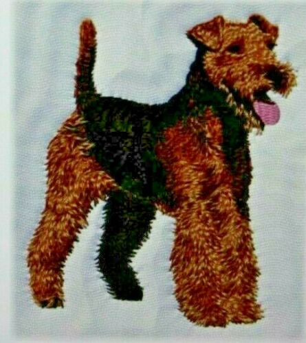 Welsh Terrier Dog Breed Bathroom SET OF 2 HAND TOWELS EMBROIDERED Personalized