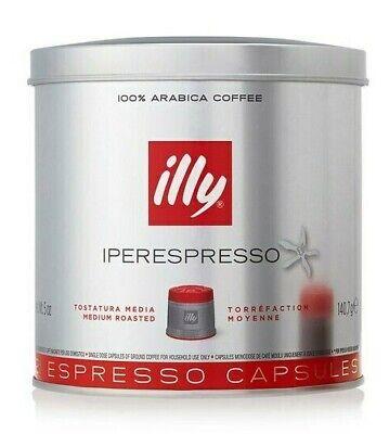 illy IPERESPRESSO Medium Roasted 21 Espresso Capsules, 140.7g, Sealed