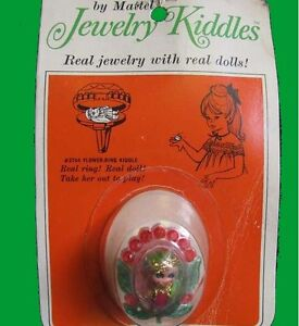 LIDDLE-KIDDLES-jewelry-RING-charm-kiddle-VINTAGE-carded-on-card-DOLL-ish-VINTAGE