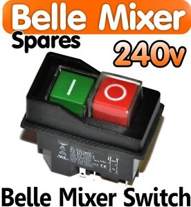 Belle-Cement-Concrete-Mixer-240v-ON-OFF-Switch-Minimix130-150-Spares-Electric