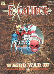 Marvel Comics Graphic Novel Excalibur Weird War III