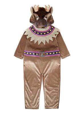 NWT EURO DISNEY FROZEN SVEN REINDEER PLUSH CHRISTMAS COSTUME CHILD BOYS L 9 - Euro Disney Kostüm