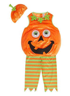 Halloween Petrifying Pumpkin Googly Eyes Costume Baby Hat Dress Up H16 3-6Months