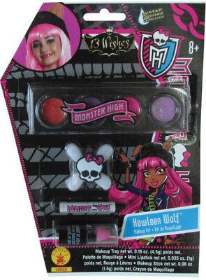 Mädchen Kind Monster High 13 Wünsche Howleen Wolf Schmink-Set Kostüm - Mädchen Howleen Wolf Kostüm