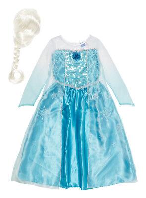 Disney Frozen Elsa Dress Wig Costume Singing Let It Go Brooch Winter Sale P&P - Elsa Costume Sale