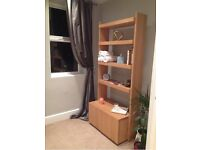 Habitat real wood shelving unit with cabinets