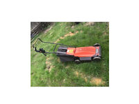 Corded electric lawnmower Flymo Chevron Roller Rotary RE250 ideal for small to medium size garden
