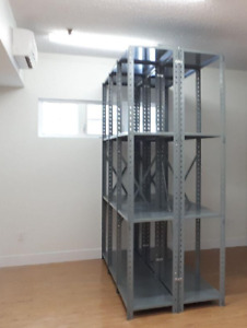 Two Metalware shelving units - great for warehouse or garage