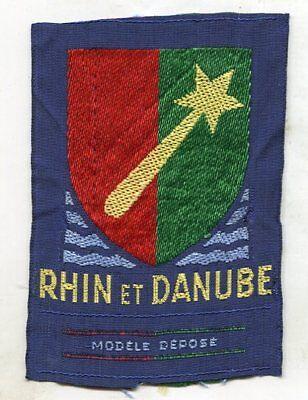 Ww2 WWII French Occupation Rhin & Danube Original Patch