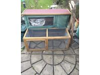 Rabbit hutch with attached run !! OFFERS !!