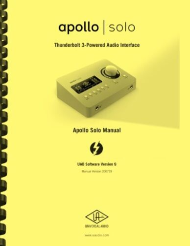 Universal Audio APOLLO SOLO Interface Hardware and Software OWNER