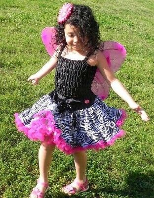 Zebra Tutu Zebra Birthday, Fabric Zebra Tutu, Tutu for Girl Toddler Skirt, Tutus