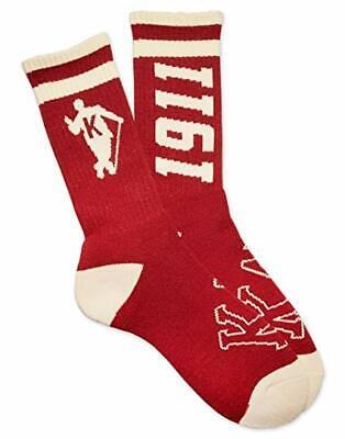 Kappa Alpha Psi Fraternity Socks-Crimson/Cream-New!