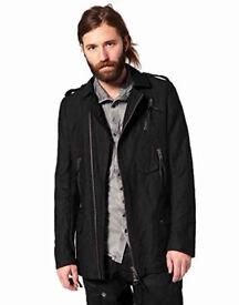 Bolongaro Trevor Smack Zip Through Mac Coat, Black, Medium