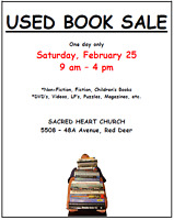 USED BOOK SALE - Sacred Heart Church (One Day Only)